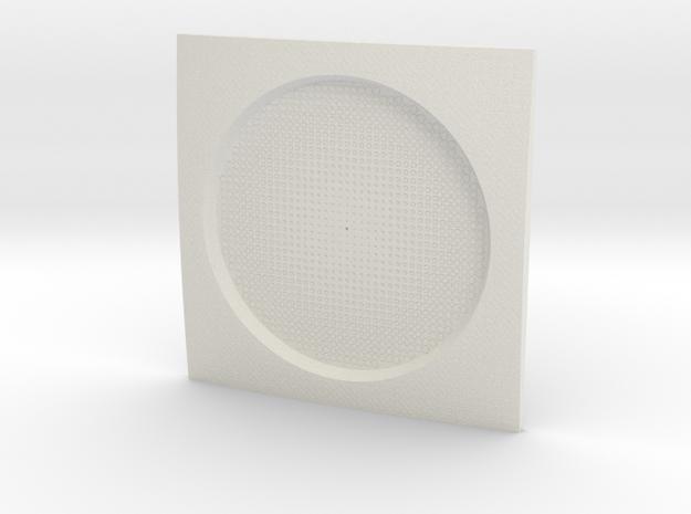 Parametric Coaster in White Strong & Flexible