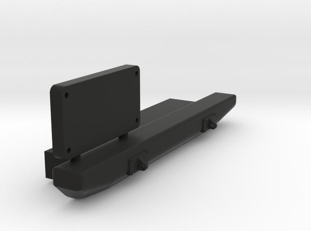Jeep Tj Custom Kit - Rear Bumper in Black Natural Versatile Plastic