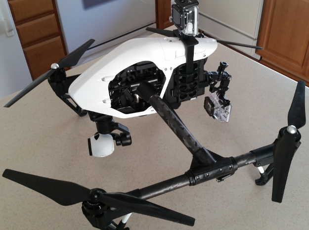 Inspire 1 GoPro mount in Black Natural Versatile Plastic