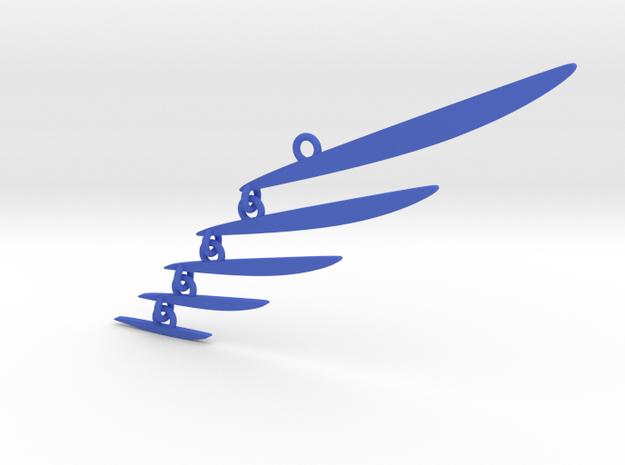 Custom Mobile 1 in Blue Processed Versatile Plastic