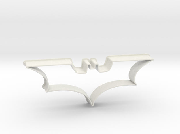 Batman 2008 - cookie cutter in White Natural Versatile Plastic
