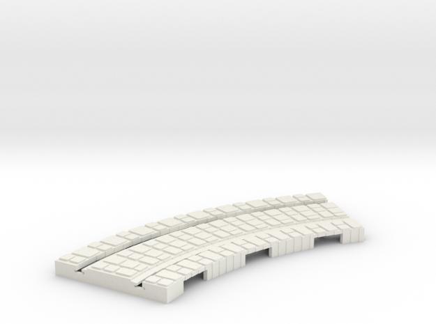 P-165st-short-curve-100r-100-1a in White Natural Versatile Plastic