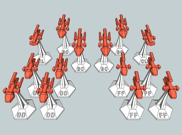 MicroFleet Kzouti Fast Attack Group (14 Pcs) in Smooth Fine Detail Plastic