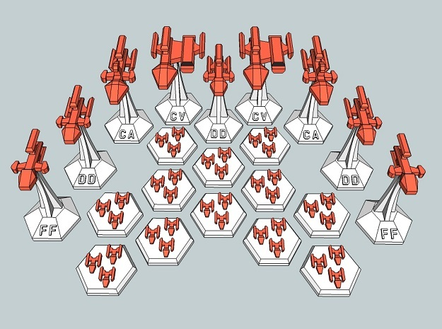MicroFleet Kzouti Carrier Group (21 Pcs) in Smooth Fine Detail Plastic