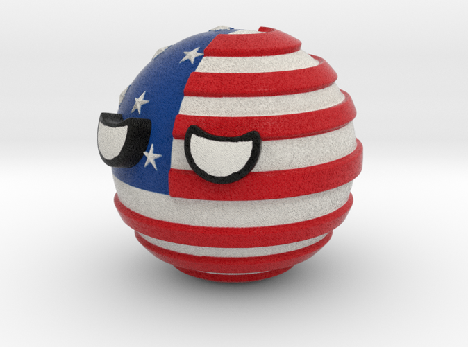 Countryballs USA - Full Color Sandstone