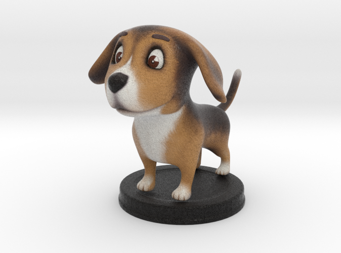 Puppies Out - Beagle - Full Color Sandstone