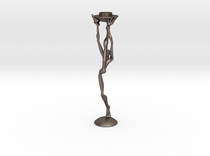 striding man- 3D printed candleholder- steel