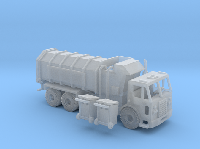Peterbilt 320 side loader garbage truck Z scale