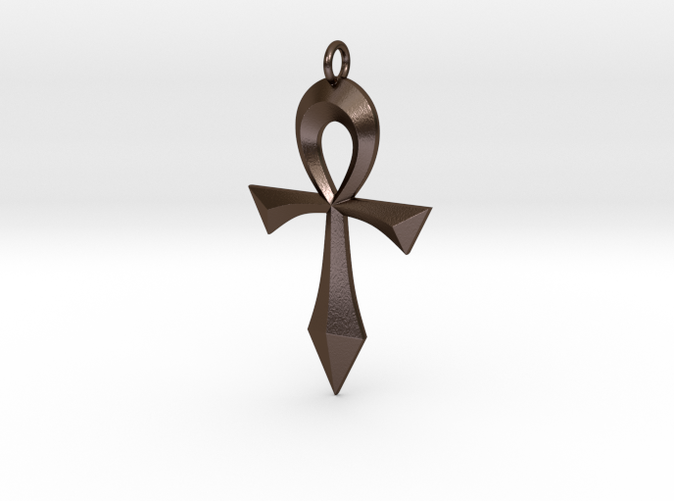 Swept Ankh in Polished Bronze Steel