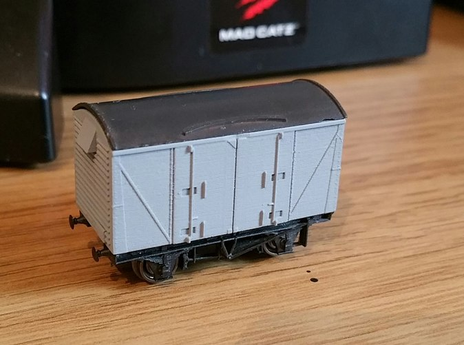 Model in FUD primed and fitted to Peco 10ft chassis