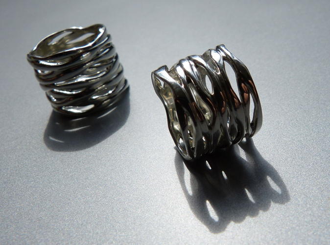 Raw Waves in Premium Silver
