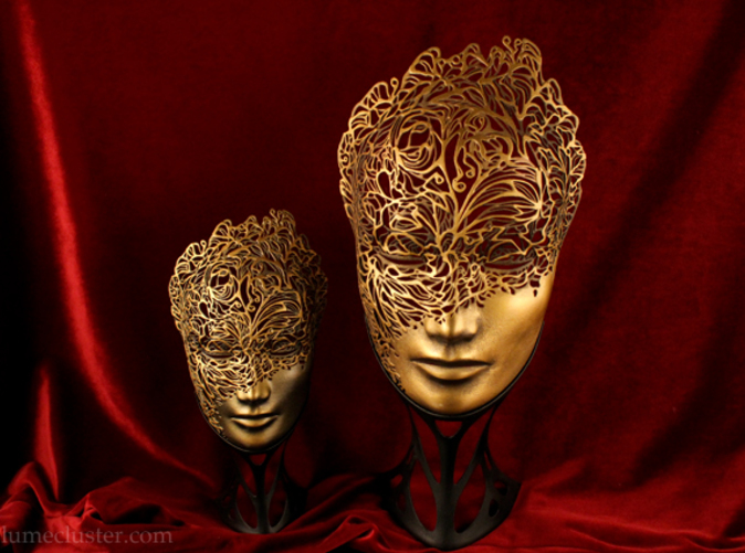 Painted and finished Lumecluster masks (with custom mask stand) are only available for sale on Lumecluster.com