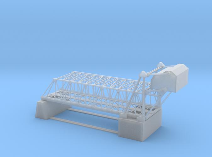 Double track Bascule bridge Z scale