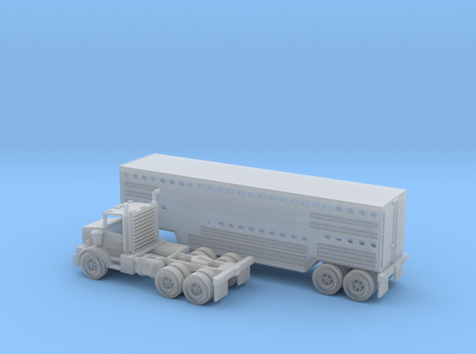 Semi with Slaughter trailer transport Z scale