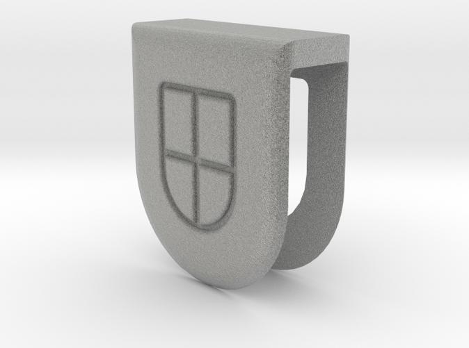 3D Webcam Cover rendering - Metallic Plastic