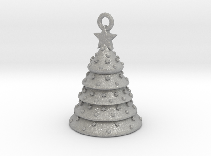 Aluminum Christmas Tree Ornament With Moving Parts