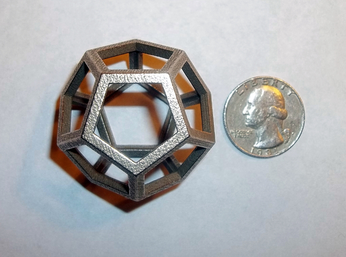 Dodecahedron in Raw Stainless Steel