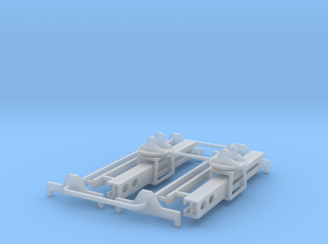 two Container Lift attachments z scale