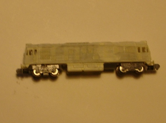 model with primer on 16 m chassis