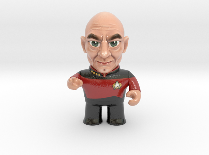 Captain Picard Star Trek Caricature