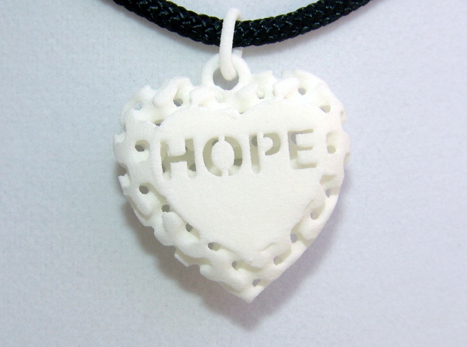 Hope Pendant Front - Actual Photo