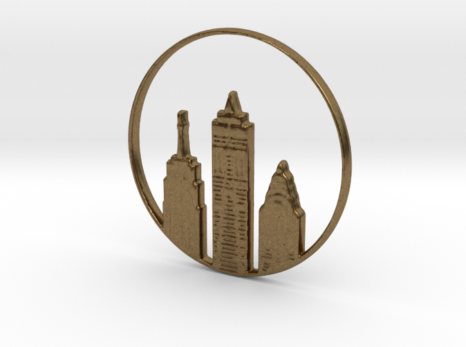 New York Pendant or Necklace (different materials have different prices)
