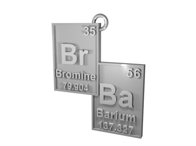 CGI Render of The Br/Ba Pendant in Silver!