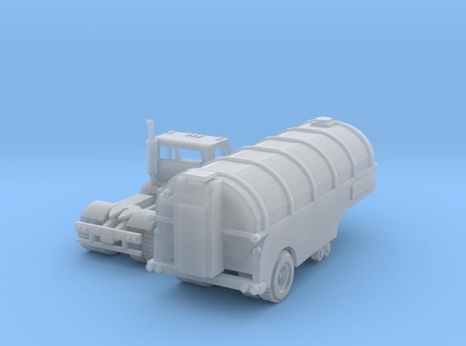 Semi Trucks with milk trailer Z scale