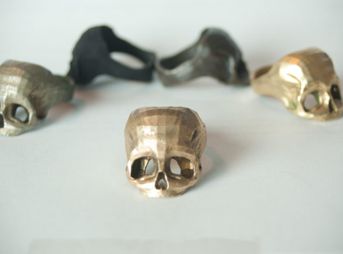 Bronze Skull Ring by Bits to Atoms