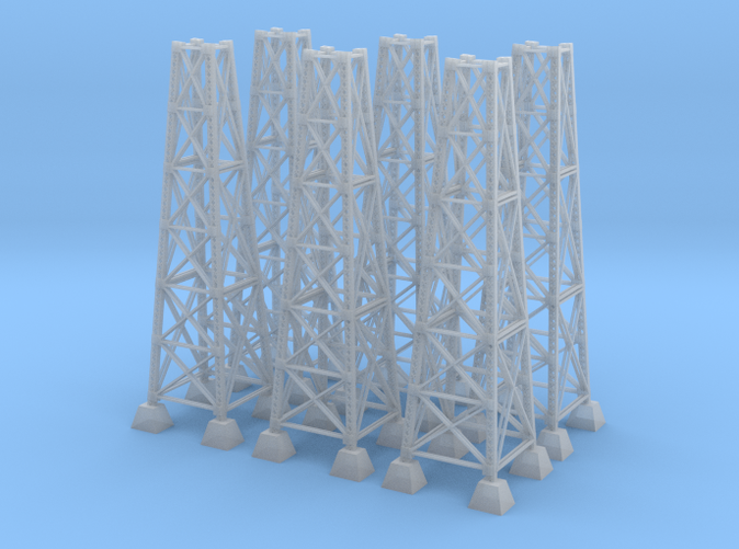 six bridge pilons z scale