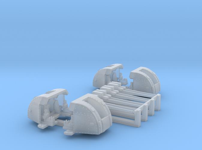 1/450 RN 4 Inch Twin MKXVI Gun x4