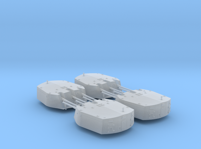 1/600 RN Triple 6 Inch MKXXIII Turrets (4)