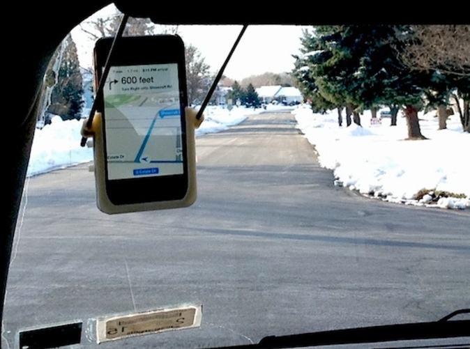 Hands-Free GPS mounts on Visor