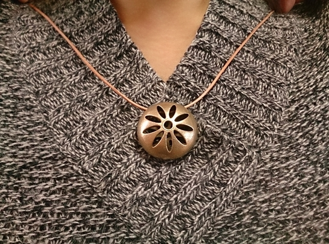 Flower Pendant Top 001(stainless steel)