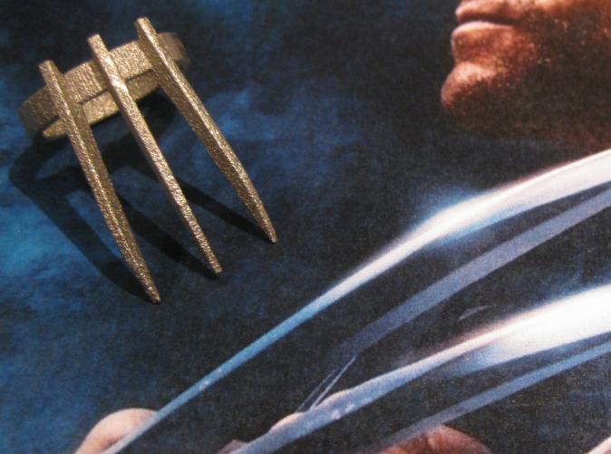 Wolverine's ring in Polished Nickel Steel