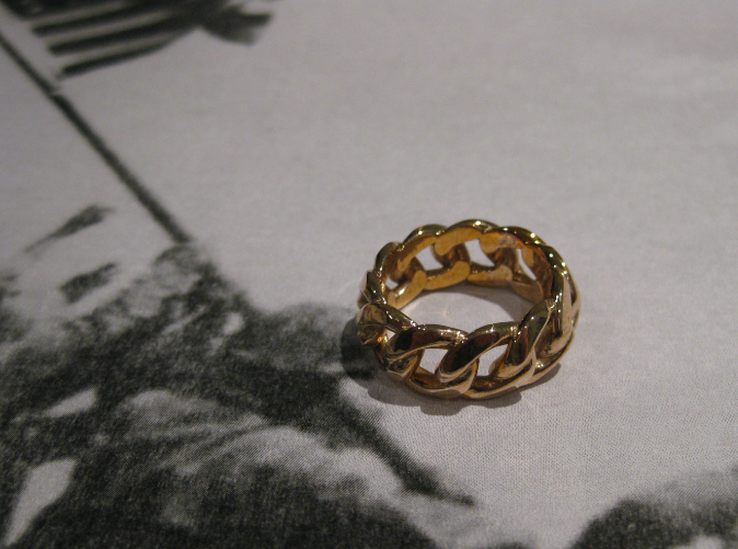 - Chained Ring of Honor in Polished Bronze -