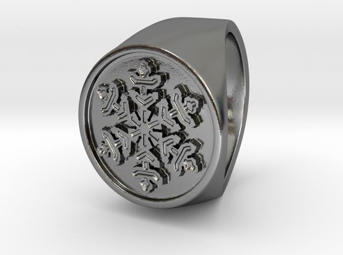Snowflake - US 6 - Signet Ring