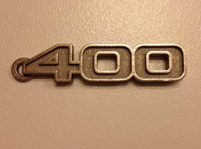 Keychain logo 400 in Stainless Steel