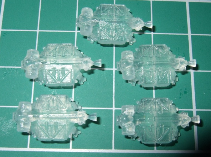 Scouls502 says: Excellent little models, these are in FUD and shown on a 1 cm grid.
