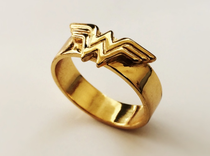 wonder woman wedding ring ring bottle opener band or regular 1477