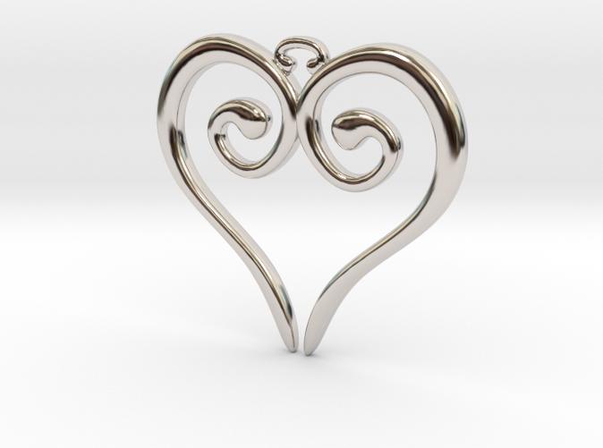 Medieval Heart Rhodium