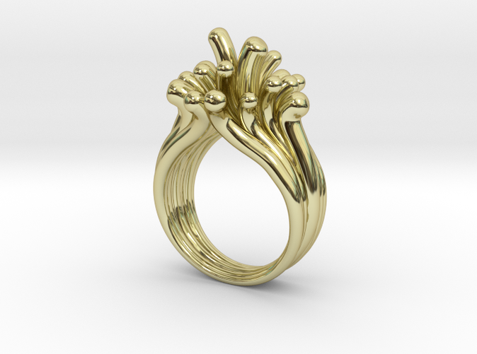 Water Drops Gold Plated Ring