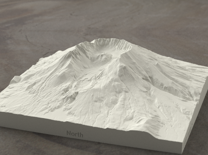 Radiance rendering of model from north