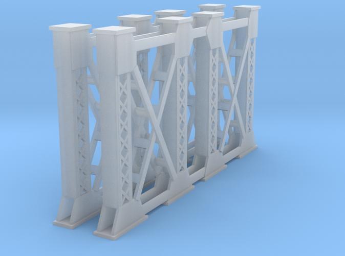 Two Steel bridge supports Z scale