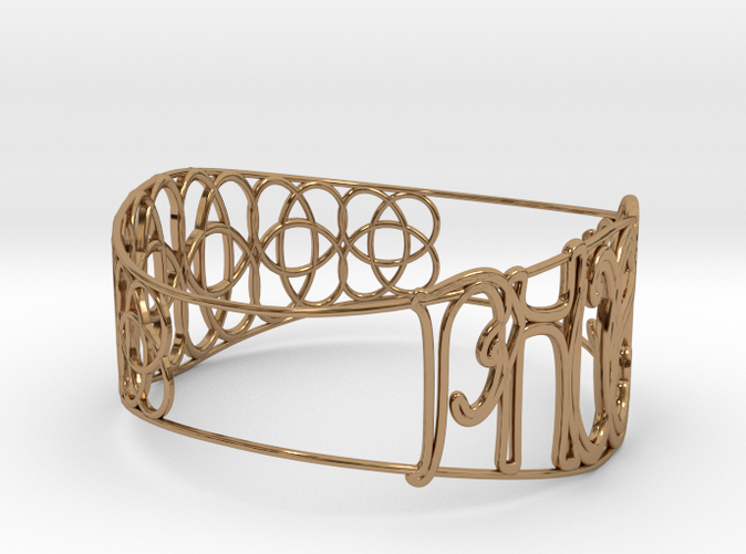 Personalised (Phoebe) 65mm Celtic Knot Bracelet
