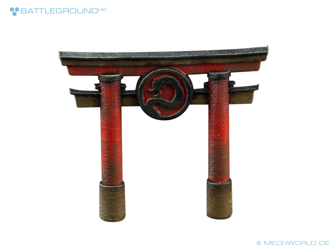 Dragon Torii Gate painted
