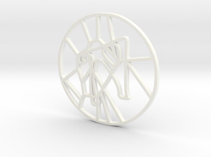 Personalised Voronoi Circular Pattern Coaster (2)