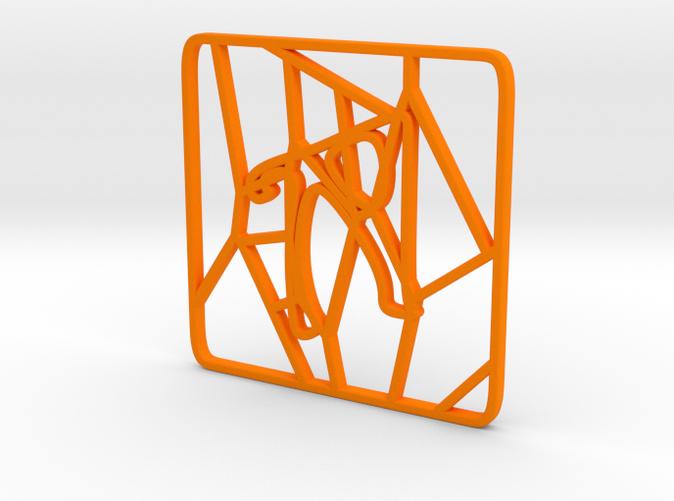Personalised Voronoi Square Pattern Coaster (4)