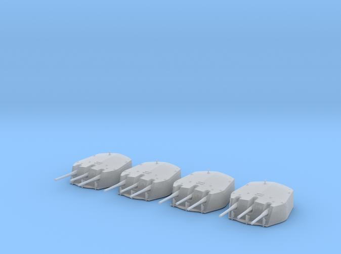 1/415 RN Triple 6 Inch MKXXIII Turrets (4)