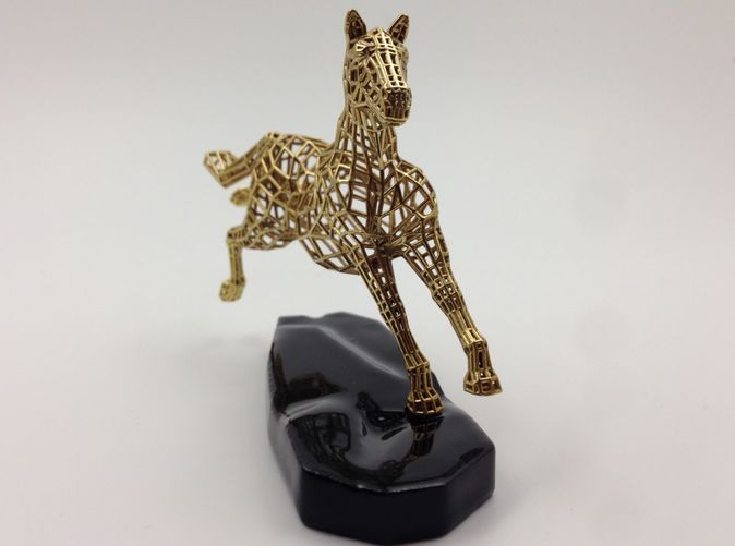 Actual Photograph - Gold Plated and 3D printed Ceramic Base